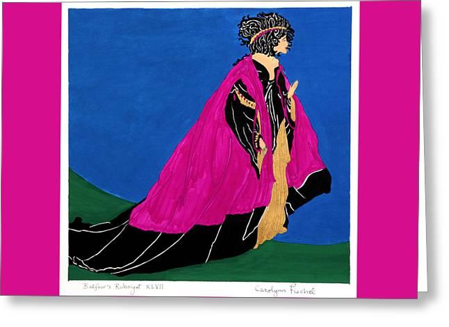 Queen Greeting Card by Carolynn Fischel