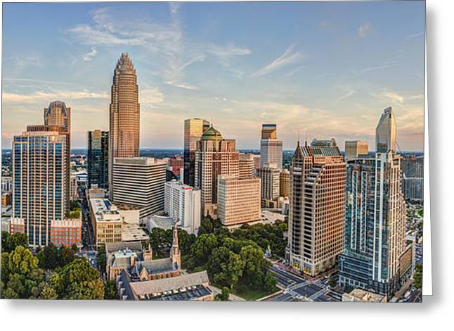 Queen City Pano Greeting Card by Chris Austin