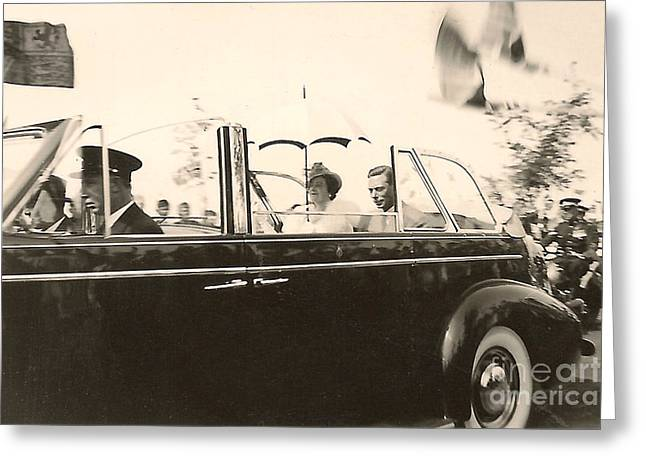Queen Elizabeth And King George Vi Greeting Card