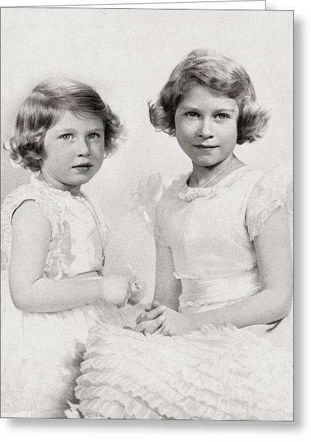 Queen Elizabeth II, Right, As A Greeting Card by Vintage Design Pics