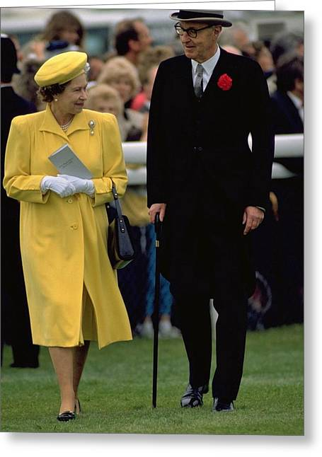 Queen Elizabeth Inspects The Horses Greeting Card