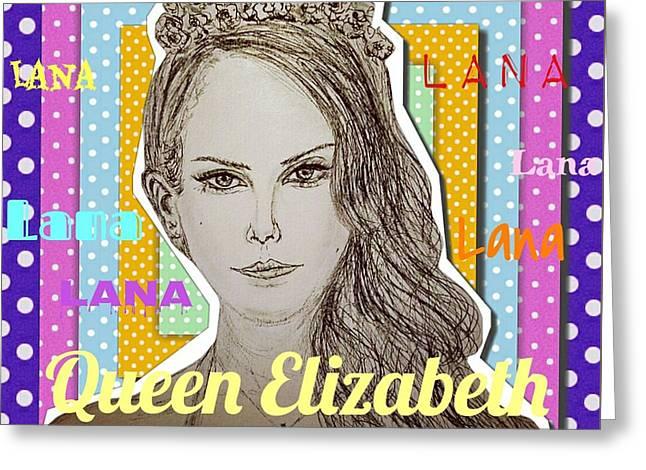 Queen Elizabeth - Lana Greeting Card by Evelyn Yu