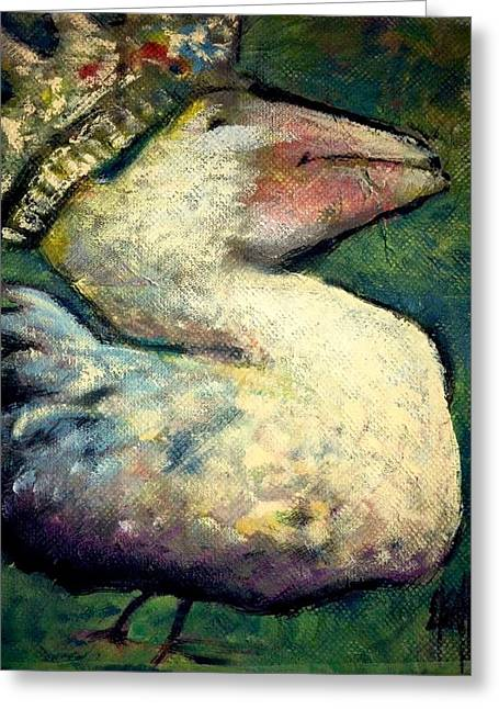 Greeting Card featuring the painting Queen Goose by Eleatta Diver