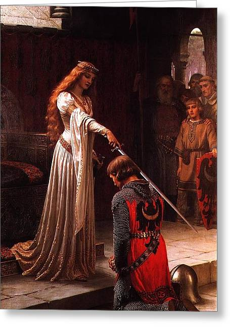 Queen Guinevere And Sir Lancelot Greeting Card by MotionAge Designs