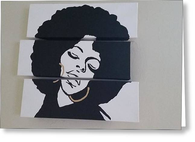 Afro Queen Greeting Card