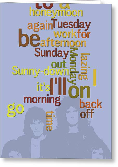 Queen. Lazing On A Sunday Afternoon. Order The Lyrics Game. Greeting Card