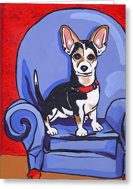 Queen Lucy Greeting Card by Laura Brightwood