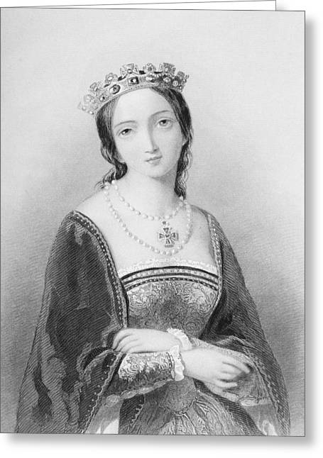 Queen Mary I, Aka Mary Tudor, Byname Greeting Card by Vintage Design Pics