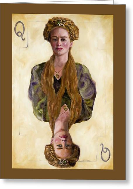 Queen Mother Greeting Card by Denise H Cooperman