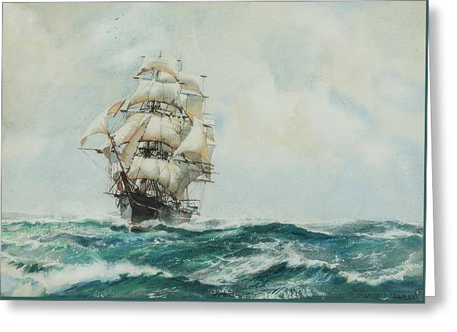 Queen Of Clippers Greeting Card by Montague Dawson