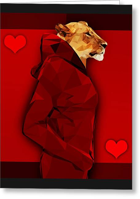 Queen Of Hearts 3 Greeting Card by Gallini Design