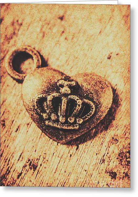 Queen Of Hearts Charm Greeting Card