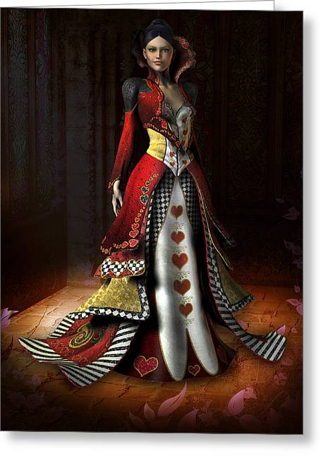 Queen Of Hearts Greeting Card by David Griffith