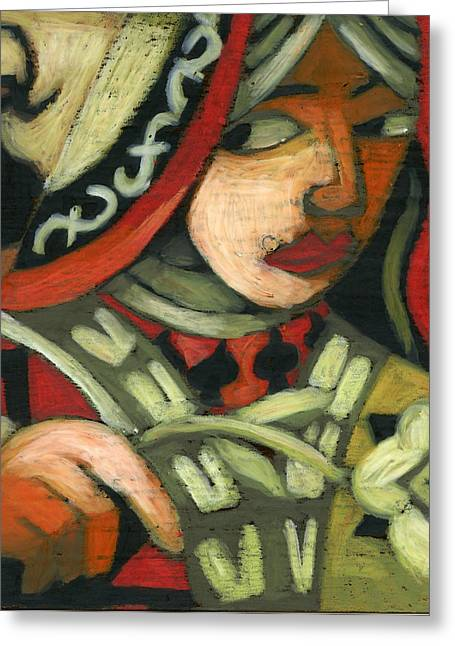Figurative Pastels Greeting Cards - Queen of Spades Greeting Card by Erik Pearson