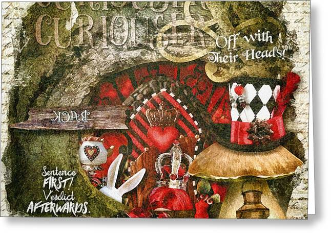 Queen Of The Hearts Greeting Card