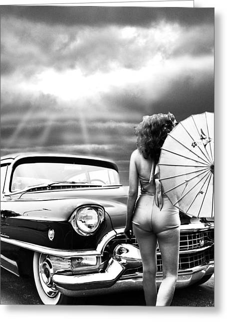 Queen Of The Highway 2 Greeting Card by Larry Butterworth
