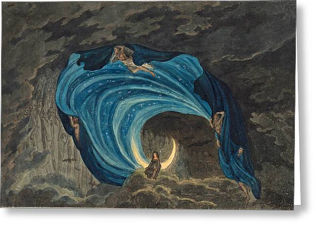 Queen Of The Night Scene For Mozart's Magic Flute  Greeting Card