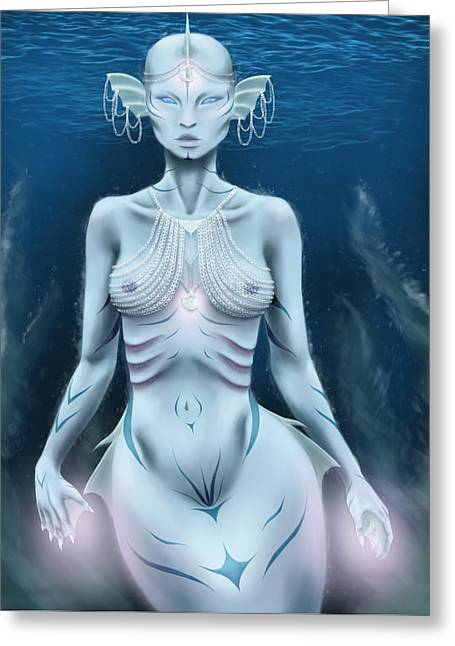 Queen Of The Ocean Greeting Card by Emelie Jonsson