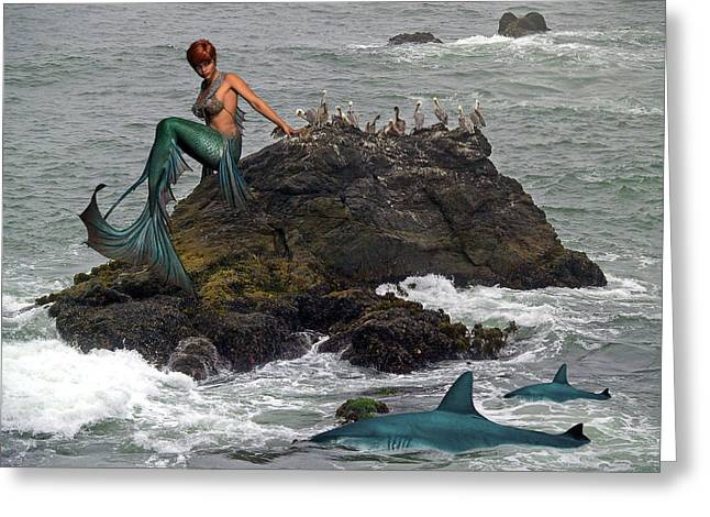 Queen Of The Sea Greeting Card by Solomon Barroa