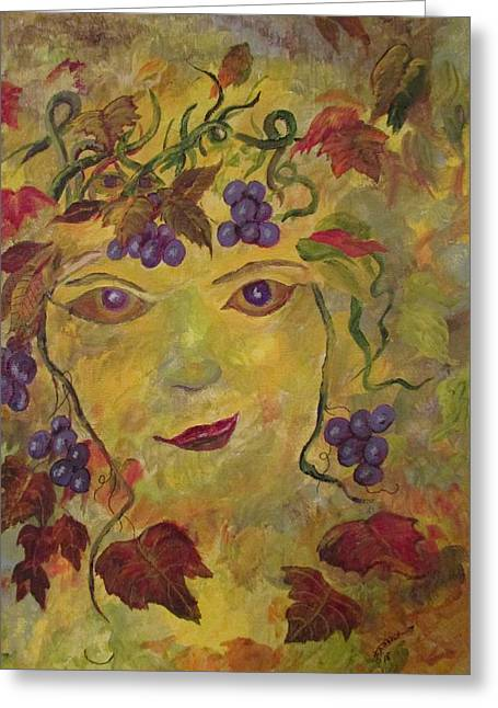 Queen Of The Vineyard Greeting Card