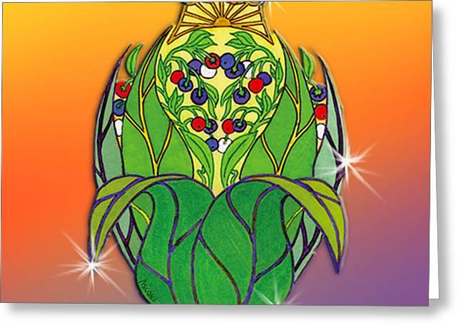 Queen Prasidea's Insignia Greeting Card by Teresa Ascone