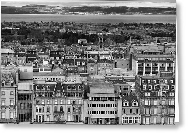 Greeting Card featuring the photograph Queen Street To The Forth by Adrian Pym