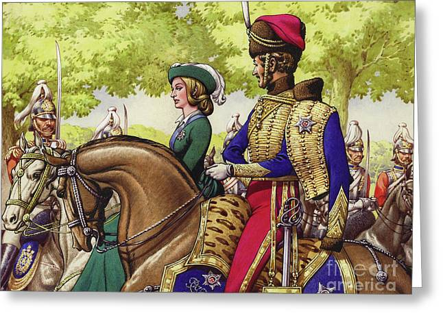 Queen Victoria And Prince Albert Greeting Card by Pat Nicolle
