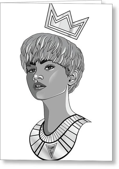 Queen Zendaya Greeting Card by Kenal Louis