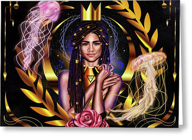 Queen Zendaya No.2 Greeting Card by Kenal Louis