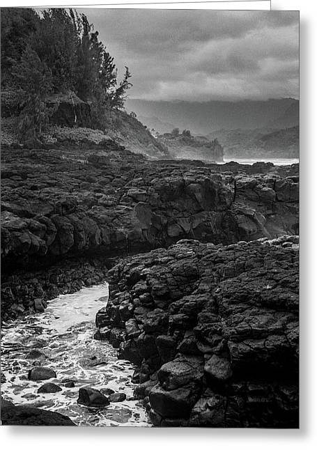 Queens Bath Kauai Greeting Card