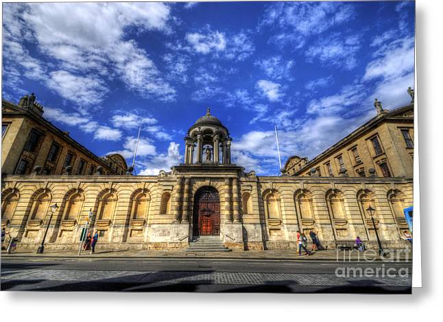 Queens College - Oxford Greeting Card