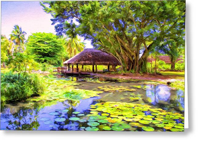Queen's Pond Tahiti Greeting Card