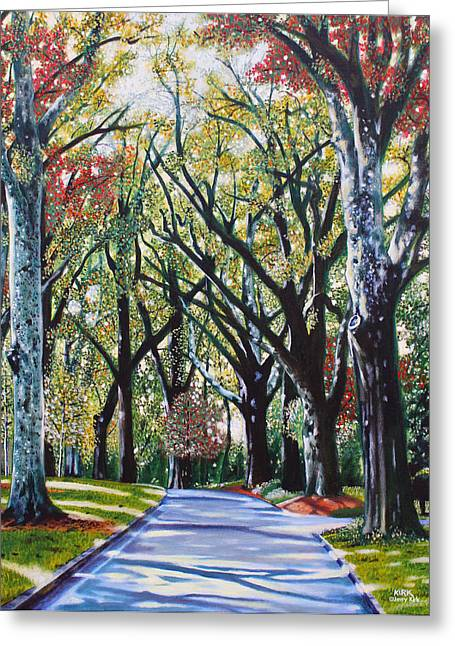 Queens Road West Greeting Card by Jerry Kirk