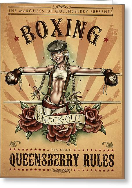 Queensberry Rules Greeting Card