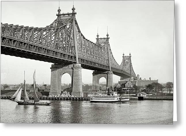 Queensboro Bridge - 1910 Greeting Card by L O C