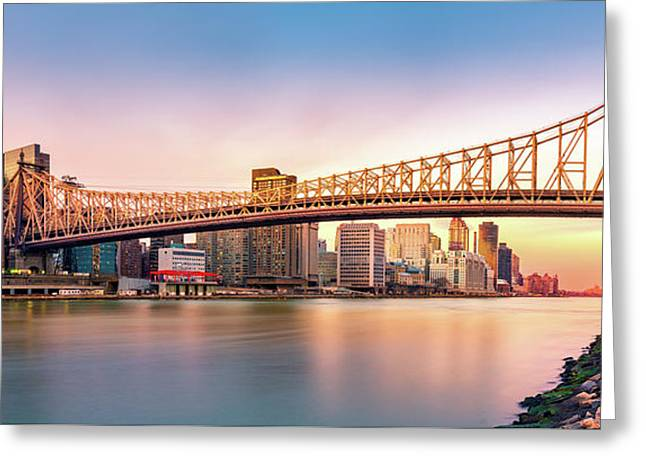 Queensboro Bridge At Sunset Greeting Card