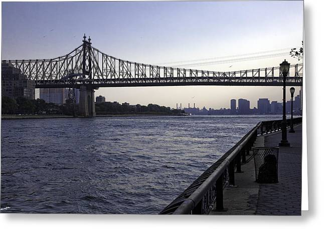 Madeline Ellis Greeting Cards - Queensboro Bridge - Manhattan Greeting Card by Madeline Ellis