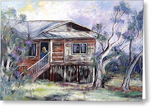 Queenslander Style House, Cloncurry. Greeting Card