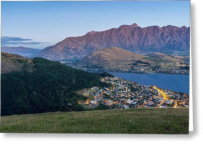 Queenstown At Dusk Greeting Card