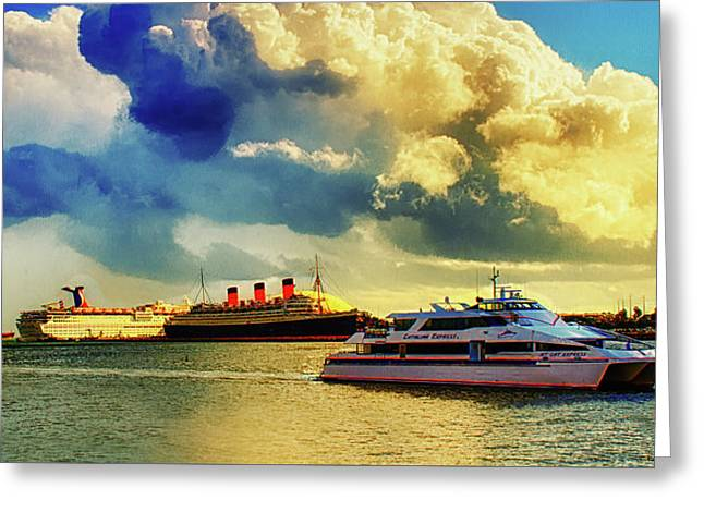 Queensway Bay Ships Greeting Card