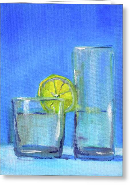 Greeting Card featuring the painting Quench by Nancy Merkle