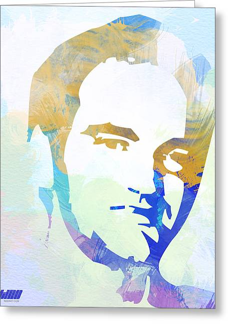 Quentin Tarantino Greeting Card by Naxart Studio