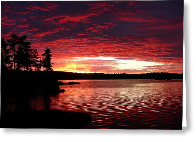 Quetico Sun Rise Greeting Card