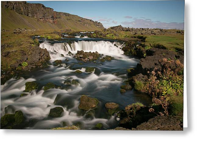 Greeting Card featuring the photograph Quick Flowing by Elvira Butler