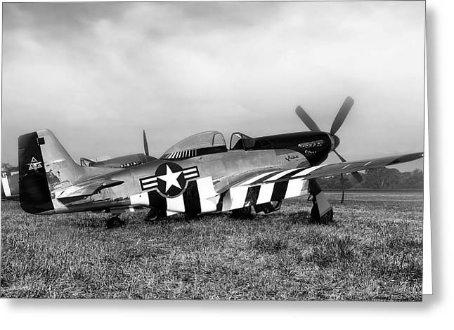 Quick Silver P-51 Mustang Greeting Card