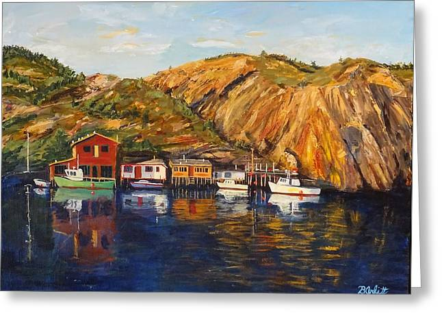 Quidi Vidi Sunset Greeting Card