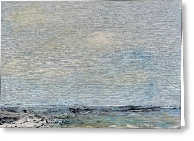 Quiet Beach Greeting Card by Judy Jacobs