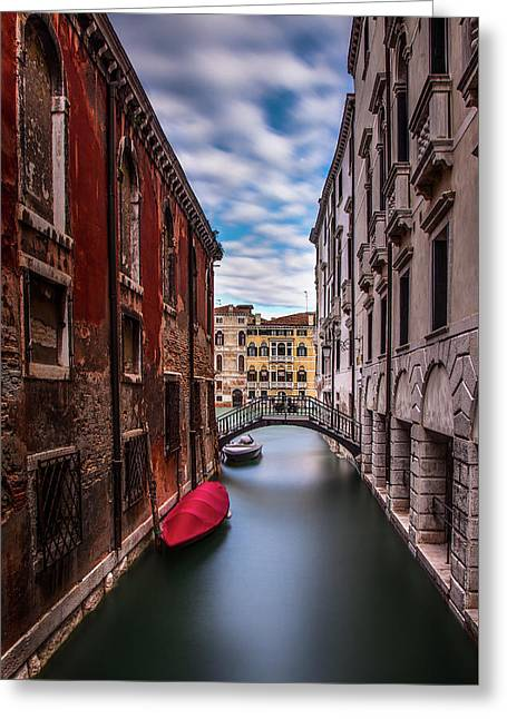 Quiet Canal In Venice Greeting Card