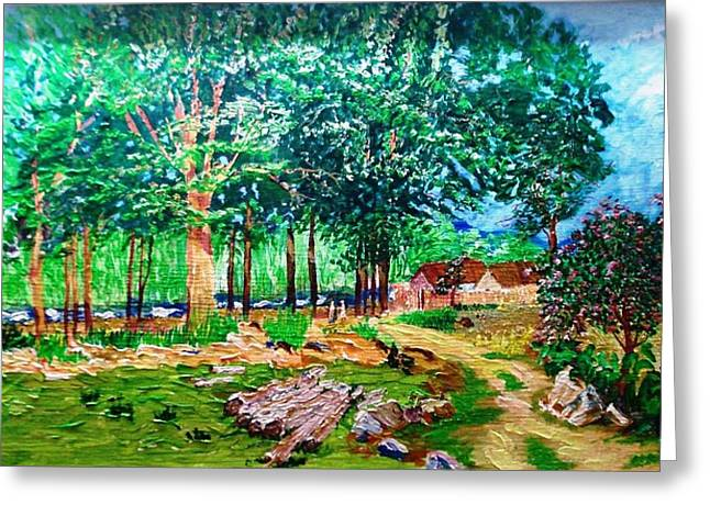 Quiet Countryside Greeting Card by Narayan Iyer