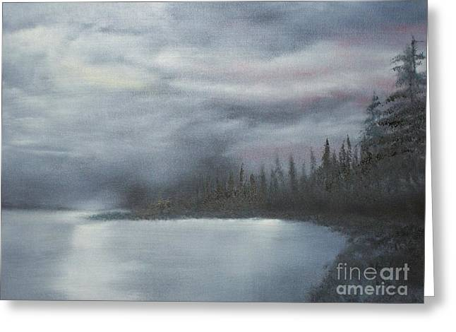 Quiet Cove Greeting Card by Shawn Cooper